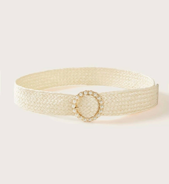 Round Pearl Woven Belt