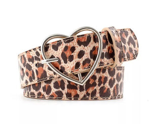 Heart Cheetah Buckle