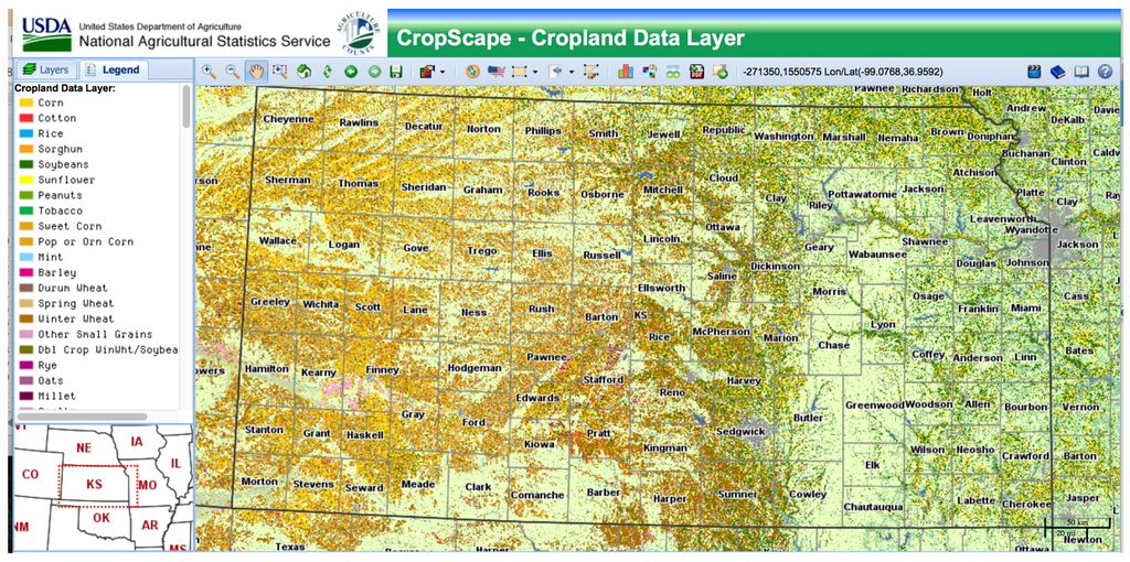 National Agricultural Statistics Map