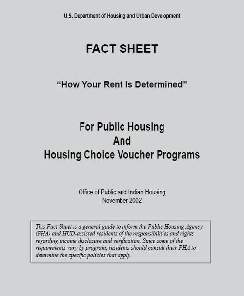 HF-170   HUD Fact Sheet - How Rent is Determined