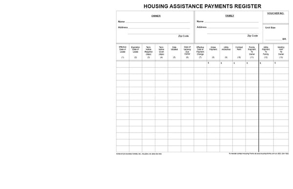 HF-26  Housing Assistance Payments Voucher
