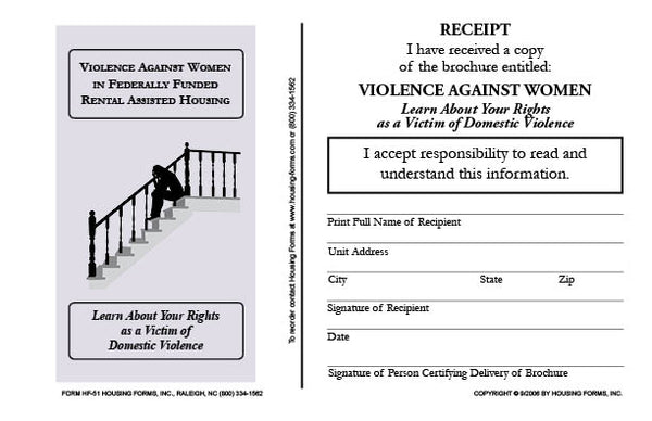 HF-51 Violence Against Women Brochure Receipt