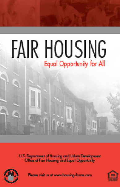 HUD-1686 Fair Housing - Equal Opportunity for All