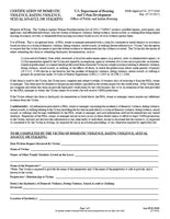 HUD-50066  Certification of Domestic Violence