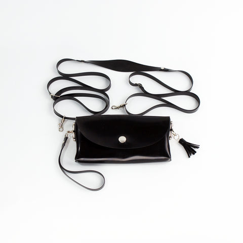 Latex Clutch and Shoulder Purse Bag