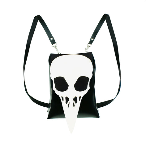Latex Crow Skull Mini Backpack