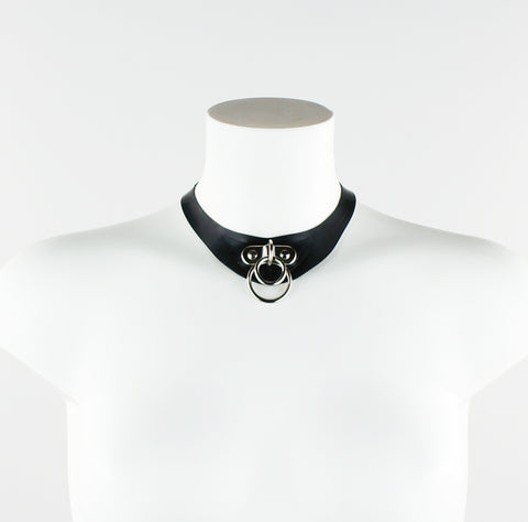 Moya Latex Double O-Ring Statement Necklace