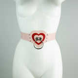 Heavy Rubber Heartbreaker O Ring Belt