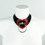 Latex Heartbreaker O-Ring Statement Necklace