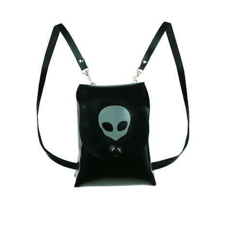 Latex Alien Mini Backpack