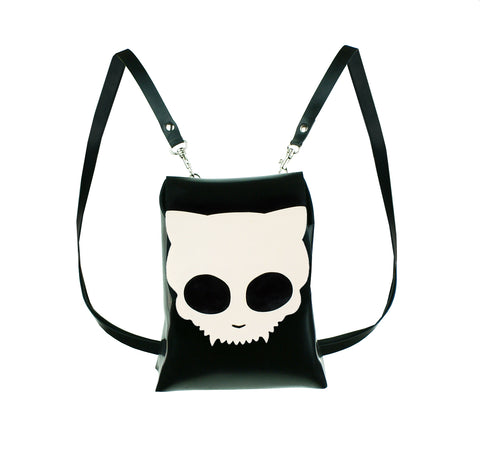 Latex Kitty Skull Mini Backpack