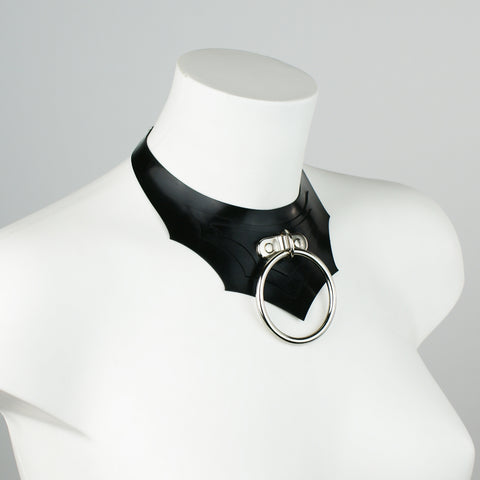 Fledermaus Latex O-Ring Bat Statement Necklace