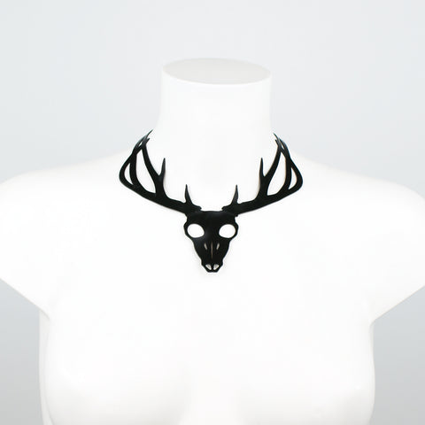 Dian Deer Skull Statement Necklace