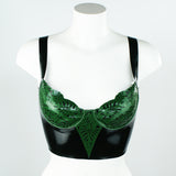 Tropical Latex Bralette Top