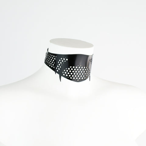 Latex Cyber Collar