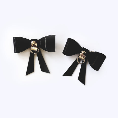 D-Ring Bow Hair Clips