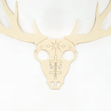 Engraved Deer Skull Statement Necklace