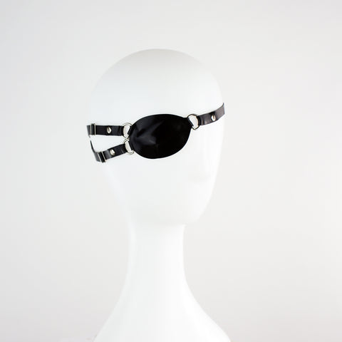 Latex Head Harness Eye Patch