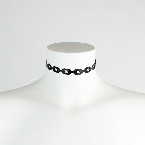 Slim Latex Chain Collar