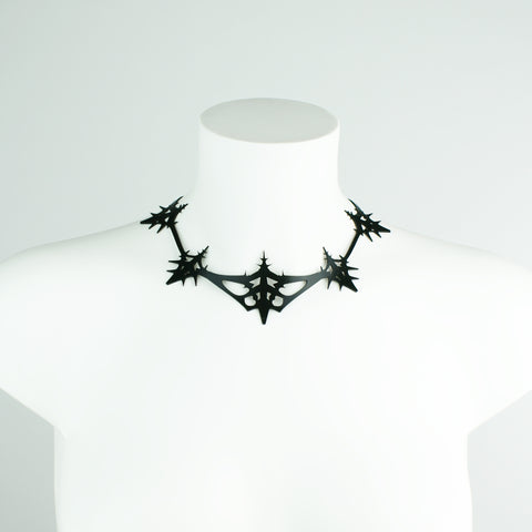 Fractal Frost Crystal Statement Necklace