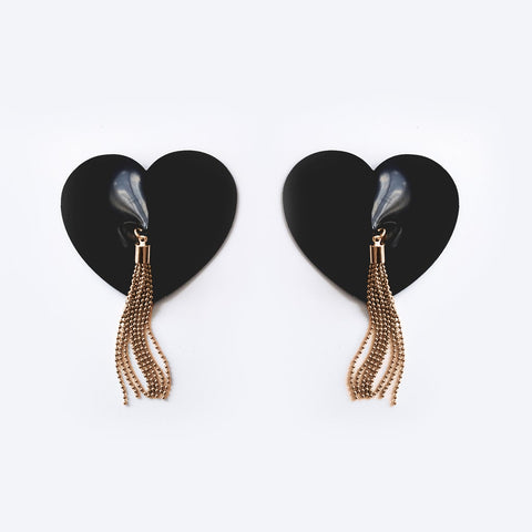 GOLD Edition Latex Heart Shaped Tassel Pasties