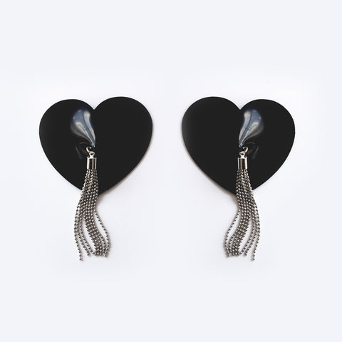 Latex Heart Shaped Tassel Pasties