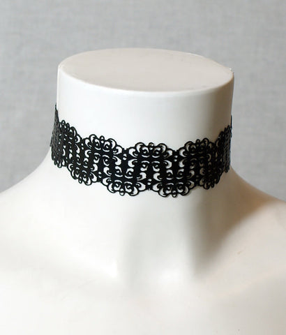 Lace Cut Latex Collar