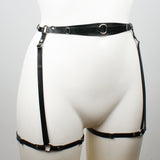 Slim Strapped Heavy Rubber Leg Harness