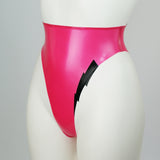 Lightening Bolt Extreme 80s Style High Leg Latex Briefs