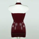 V Neck Latex Dress