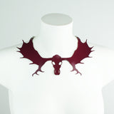 Moose Skull Peter Pan Collar Necklace