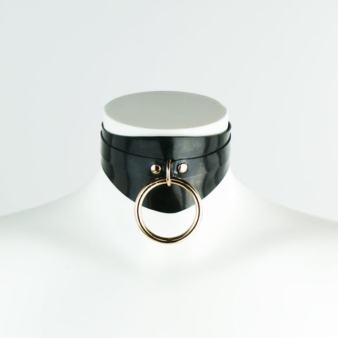 GOLD Edition Heavy Rubber Shaped O Ring Collar