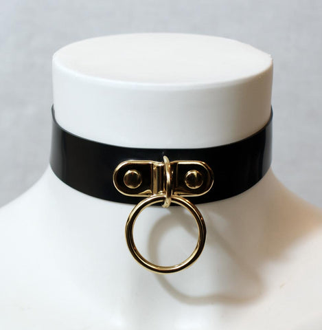 GOLD Edition Latex D-Ring collar with small O-Ring