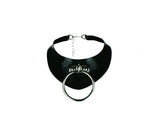 Latex O-Ring Statement Necklace