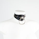 Joy Heavy Rubber Gothic Shaped Spiked O Ring Collar