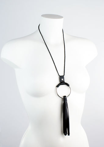 Latex Tassel Ring Necklace