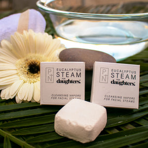 Handmade Eucalyptus Face Steams blend natural clays, salts and pure essential oils to relieve congestion and clear pores. Natural, vegan and organic.