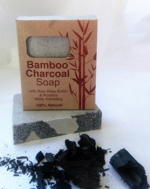 Bamboo Charcoal Soap Raw Shea Butter & Rooibos