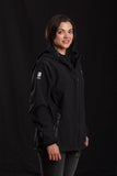 WOMENS BLACK LEOPARD SOFTSHELL