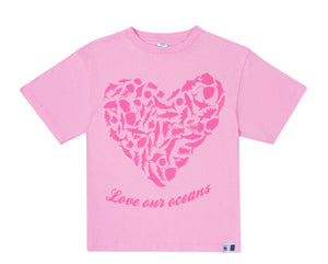 SASSI Love our oceans Pink Girls T-shirt