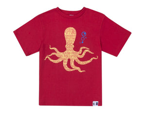 SASSI Red Octopus Boys T-shirt