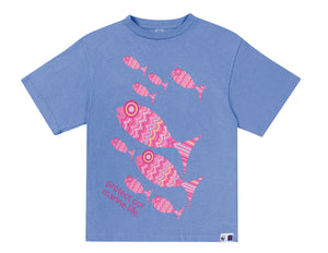 SASSI Protect our oceans Blue Girls T-shirt