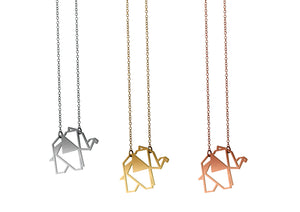 OKUHLE Elephant pendant & necklace