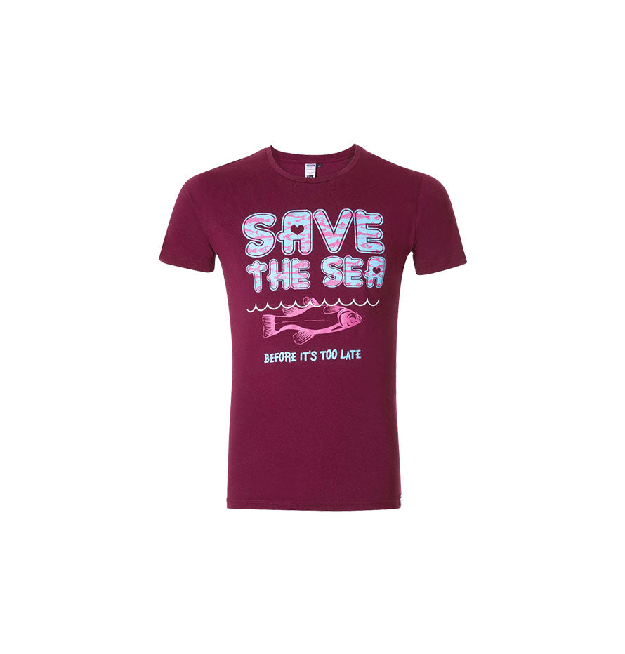 SASSI Save The Sea Berry T-shirt