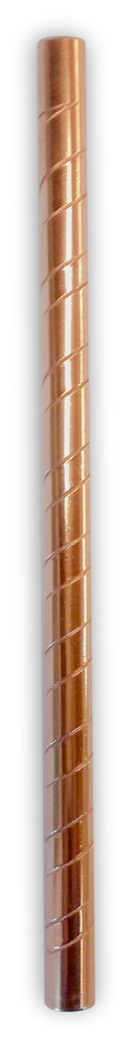 Copper Straw - Etched Smoothie Straw (9mm - diameter)