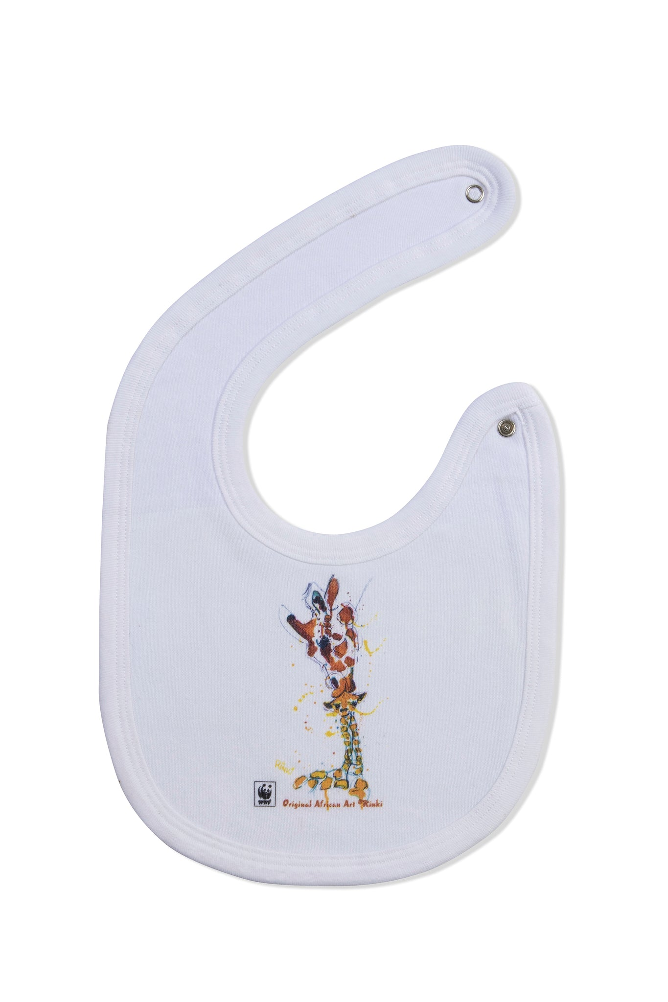 WWF Rinki Collection Mom & Baby Giraffe Bib