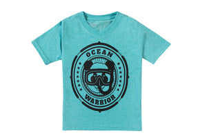 Kids Ocean Diver T-shirt Sea Green