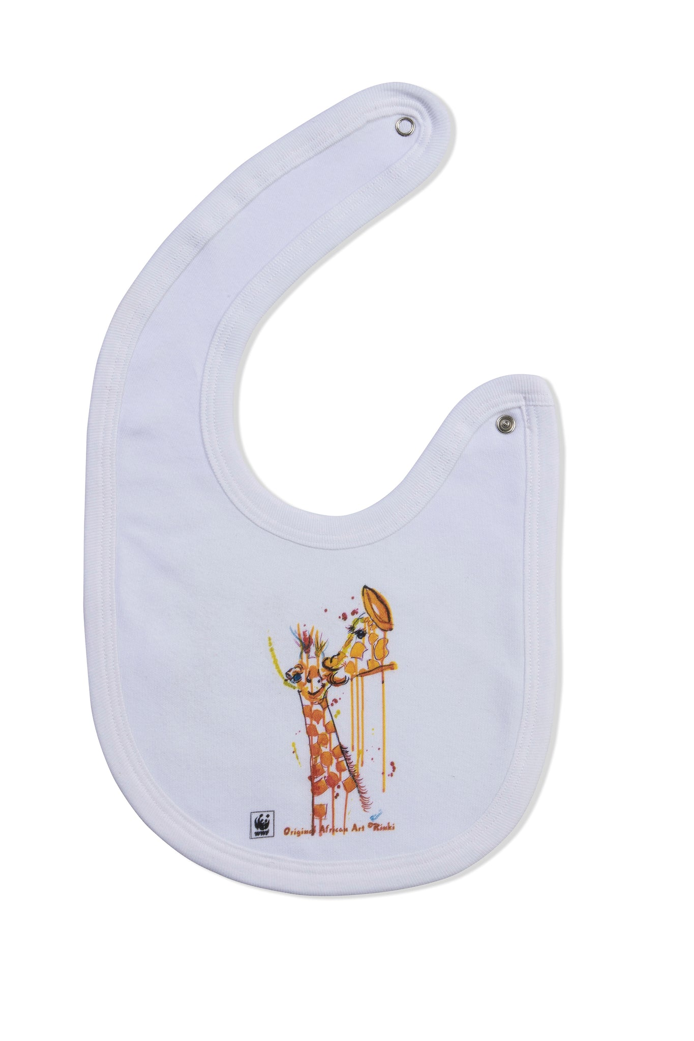 WWF Rinki Collection Giraffe Bath-time Bib