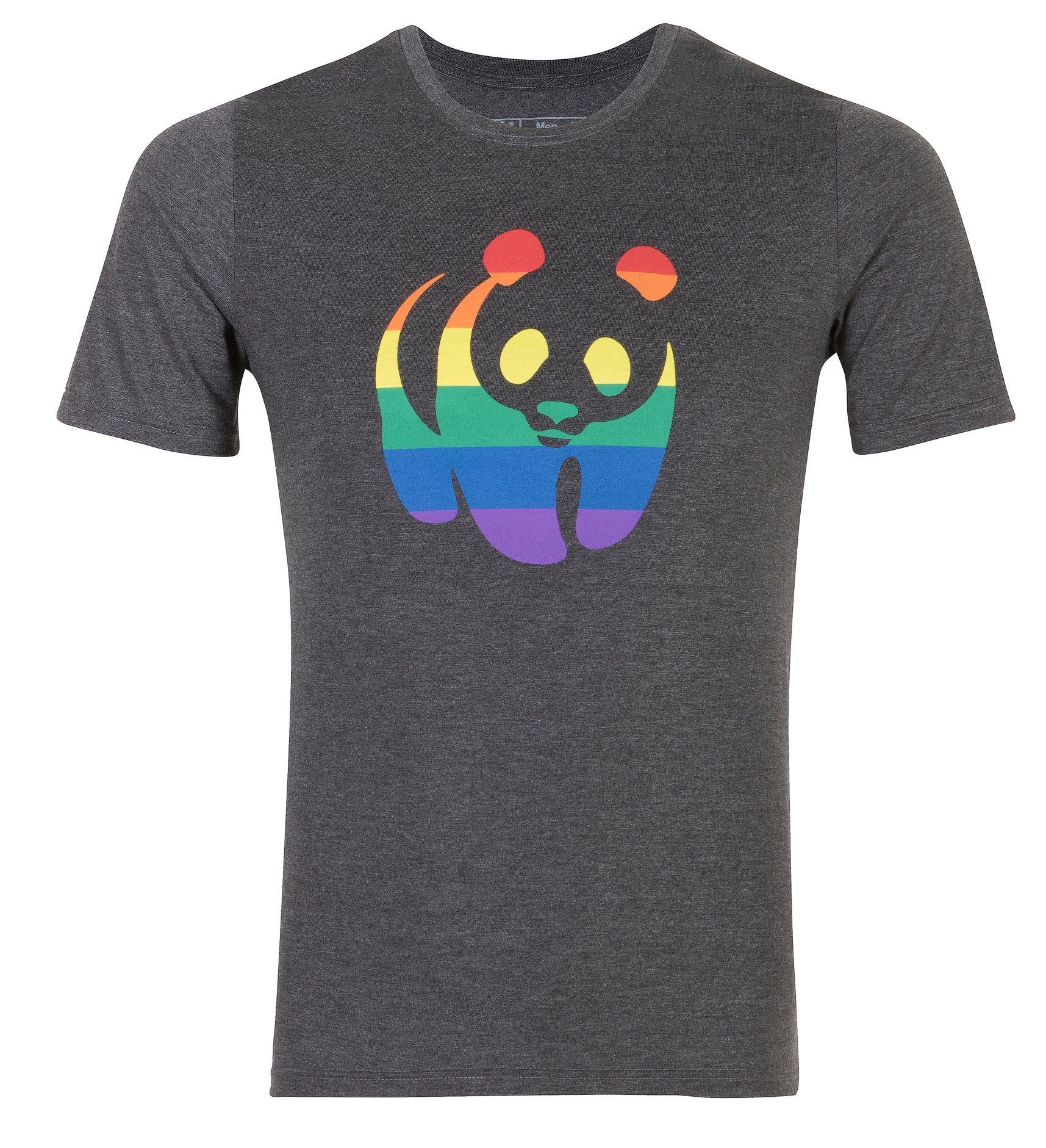 Charcoal Rainbow Panda Men's T-Shirt