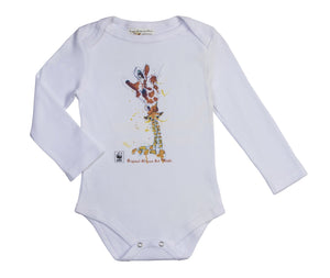 Rinki  Giraffe Bath-time L/Slv Baby Grow